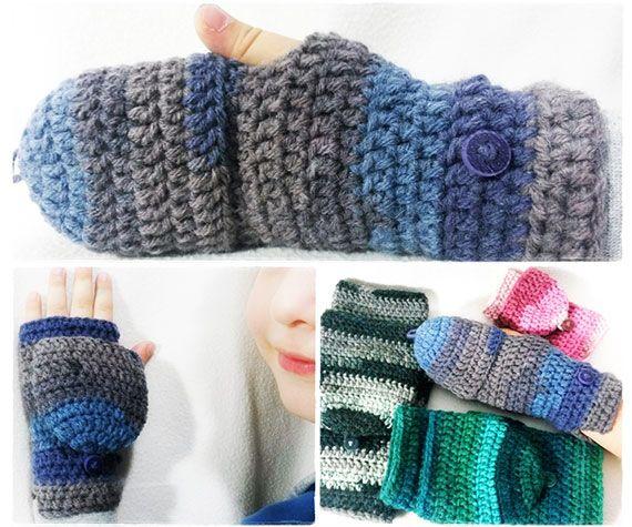 Crochet pattern easy fingerless mitten with flaps for all sizes crochet pattern easy fingerless mitten with flaps for all sizes birdeli handmade dt1010fo