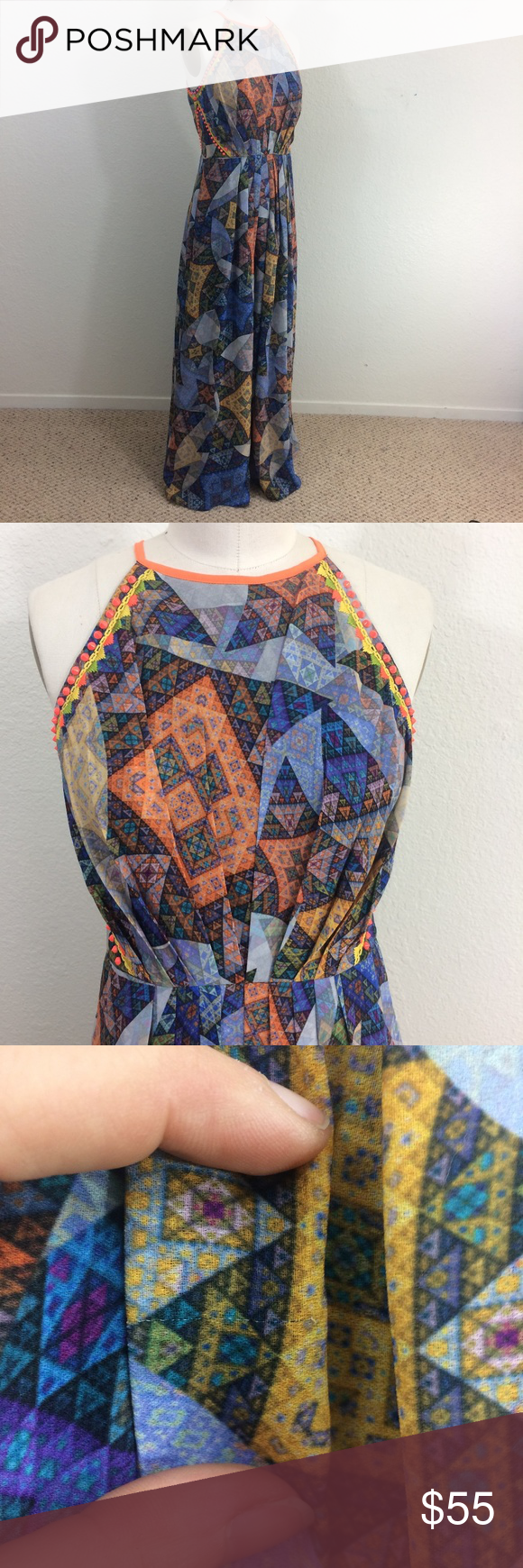 0e4a611198b6 Ranna Gill Anthropologie Condesa Maxi Dress Condition Item is in good  pre-owned condition.