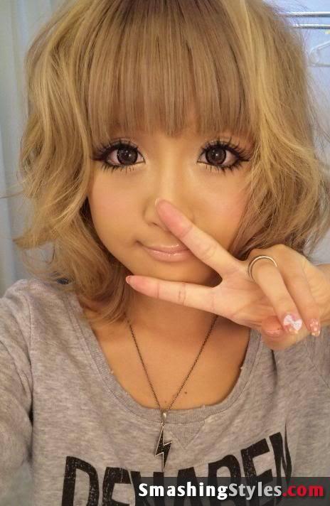 Short And Curly Anime Style Little Girl Curly Hair Anime Hair