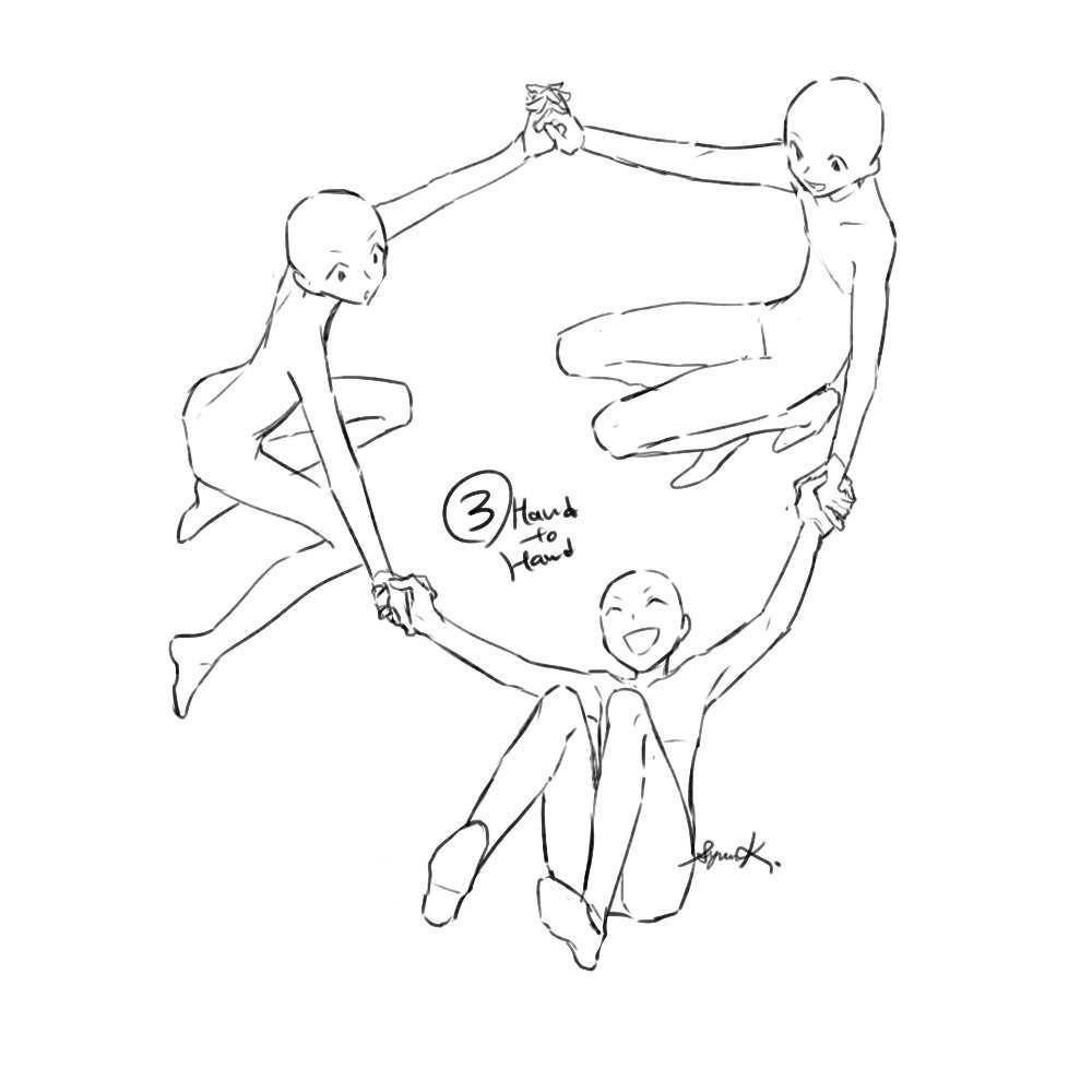 The Three Best Friends Pose Reference Drawings Of Friends Drawing Base Drawing Poses