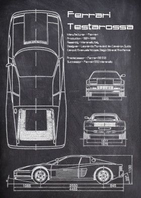 Ferrari Testarossa CHALK   Displate thumbnail