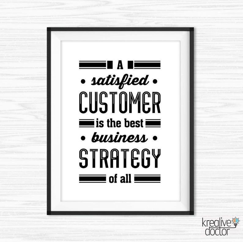 Customer Service Quotes Cubicle Decor Printable Office Wall Etsy Business Inspiration Quotes Customer Service Quotes Service Quotes