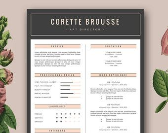Creative Resume Template Cv Template By Botanicapaperieshop  Logo