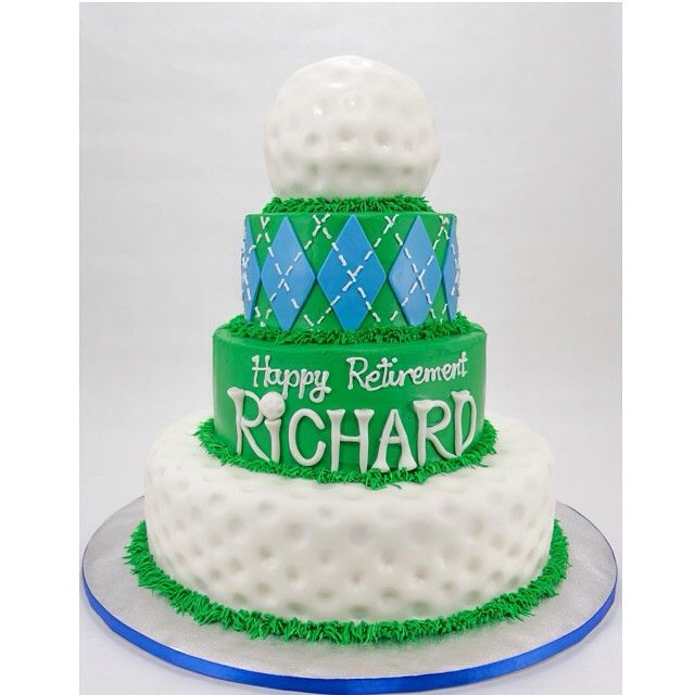 Golfing Retirement Cake Cake Artistry In 2019