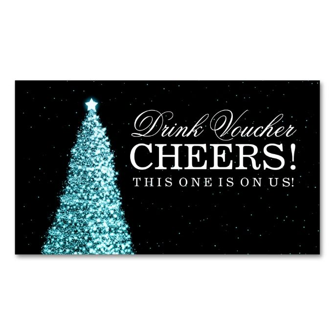Christmas wedding drink voucher turquoise business card business christmas wedding drink voucher turquoise business card flashek Choice Image