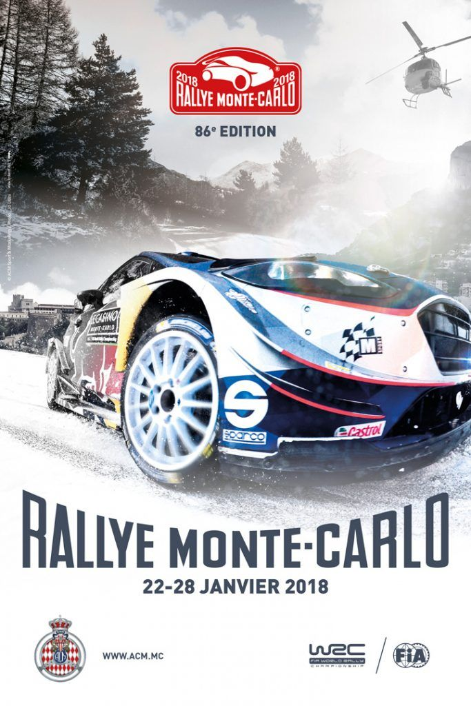 affiche rallye monte carlo 2018 monaco monte carlo rally et monaco. Black Bedroom Furniture Sets. Home Design Ideas