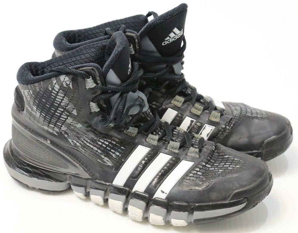 timeless design e62f0 d92fc Men s Adidas Crazy Quick AdiPure Black High Top Sneakers Basketball Shoes  7.5  adidas  BasketballShoes