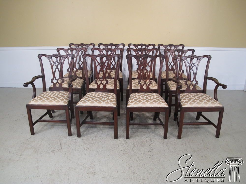 24624 Set Of 12 Henkel Harris 107 Dining Room Chairs