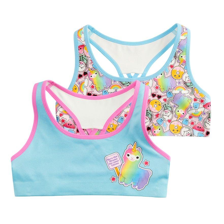 Girls 616 Mush 2pack Llama Seamless Sports Bras