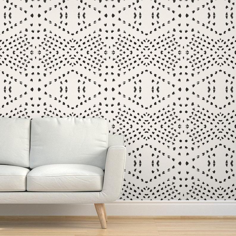 Bohemian Wallpaper Boho Tile Large By Holli Zollinger Mud Etsy In 2020 Boho Tiles Dots Wallpaper Removable Wallpaper