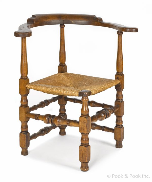New England William & Mary roundabout chair, ca. 1750 ...