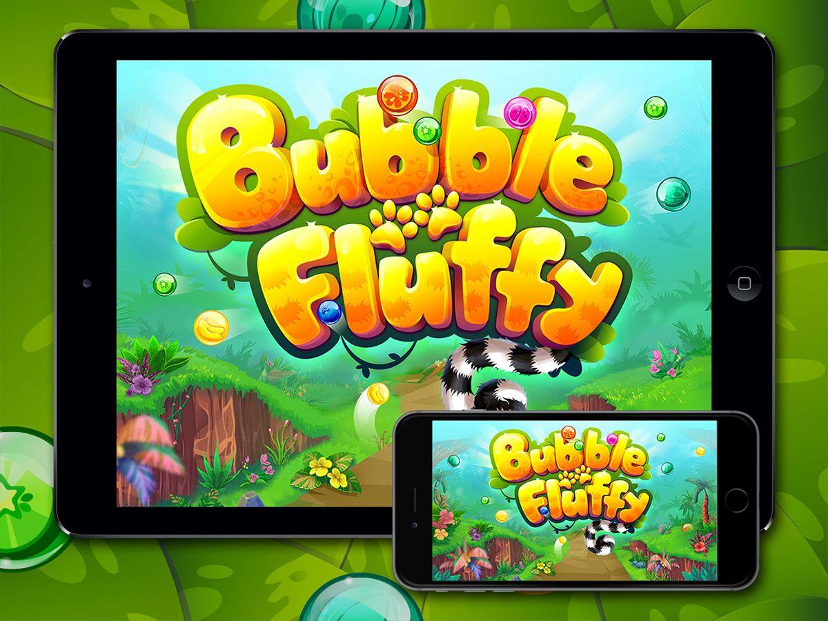 Bubble Fluffy on Behance (с изображениями) Игры