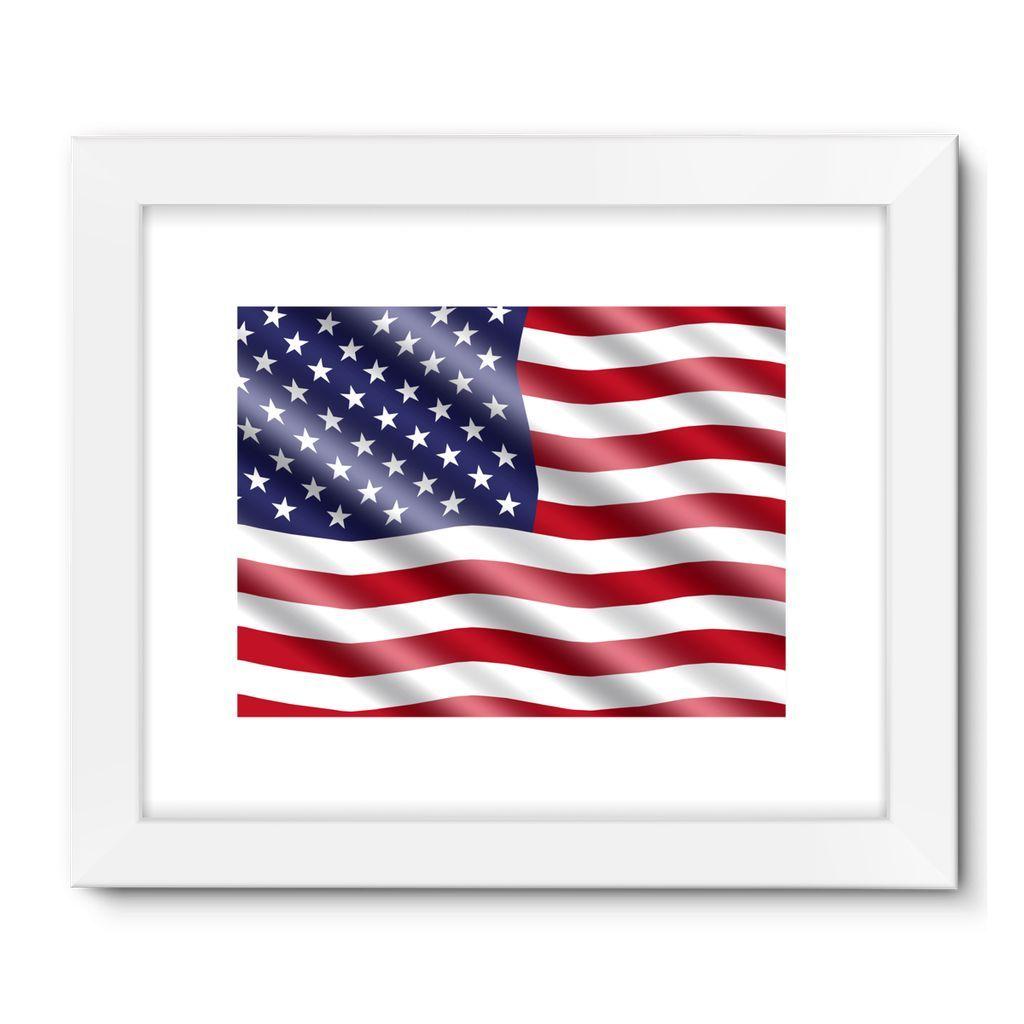 Waving United States Flag Framed Fine Art Print
