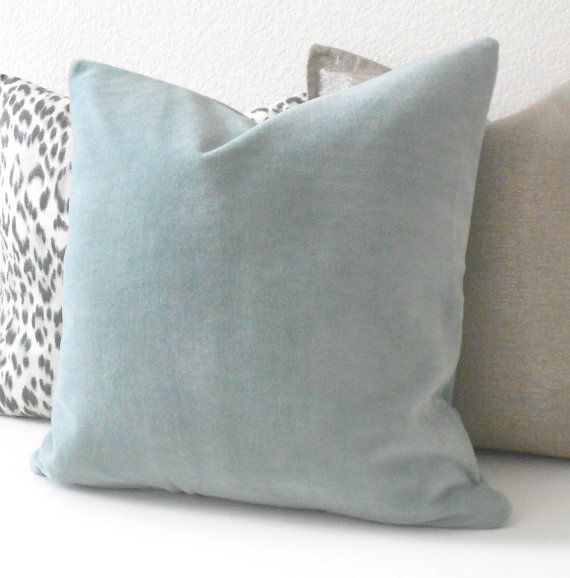 One designer decorative pillow cover Solid light blue solid