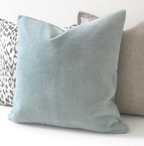 solid velvet throw pillow