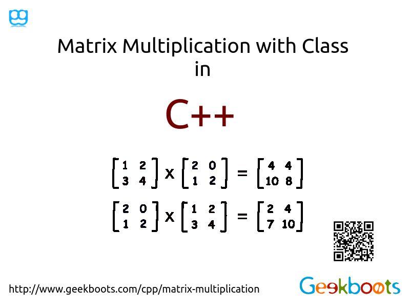 Matrix Multiplication | Binary operation, Multiplication and Data ...
