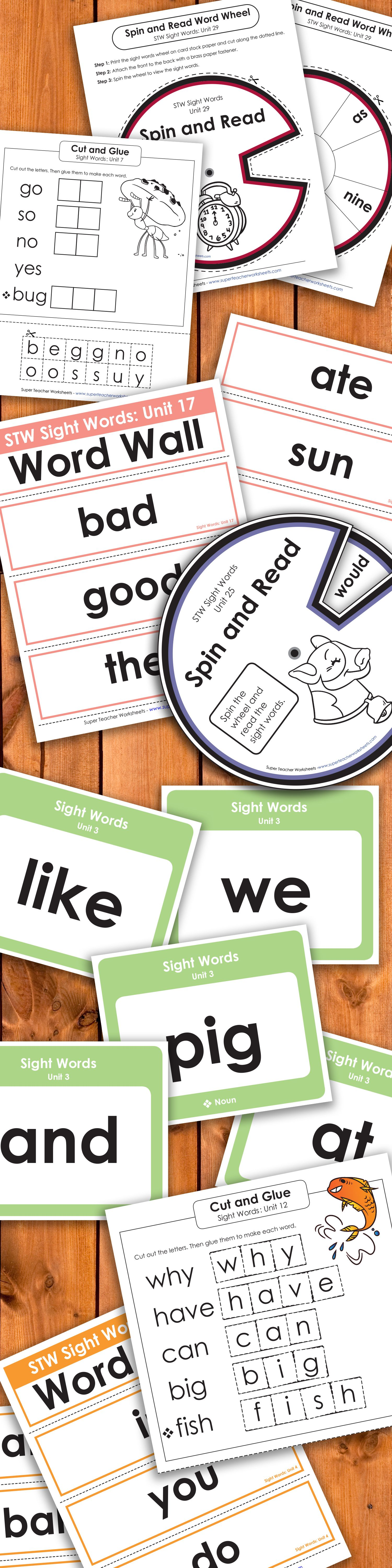 Check Out Our Extensive Sightwords Collection On