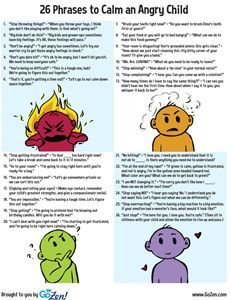 26 Phrases to Calm an Angry Child | GoZen!