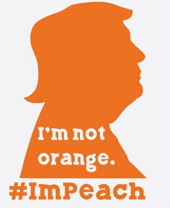 245bb79c6cc Trump I m Peach Impeach not orange bumper sticker window decal ...