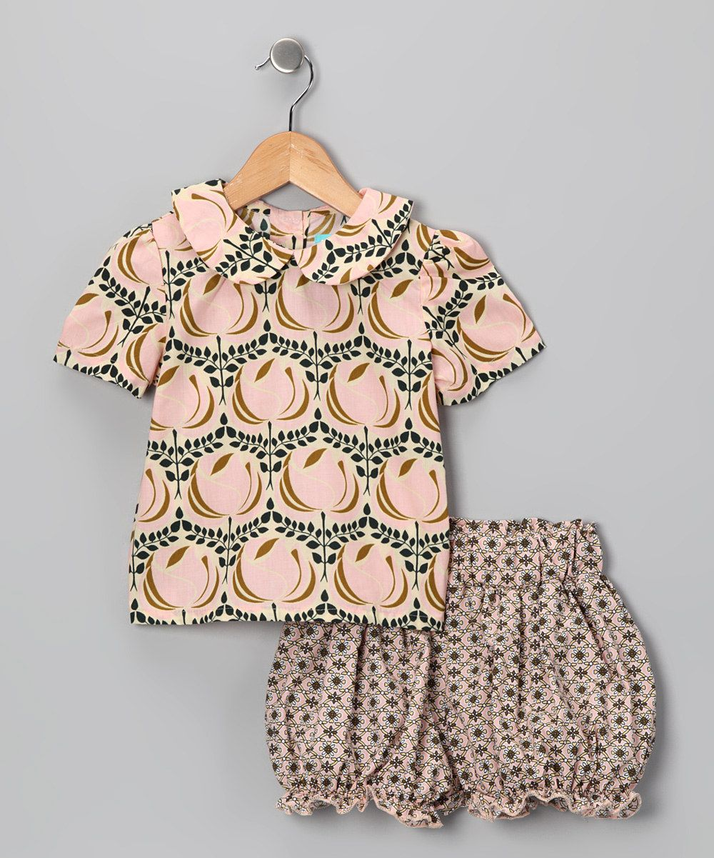 Ava Loves Olli- Pink Floral Top & Shorts (60 -poly/cotton)