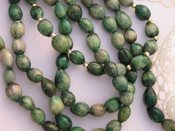 Green Beaded Necklace Beaded Necklace Green by CathysCraftyDesigns, $15.00