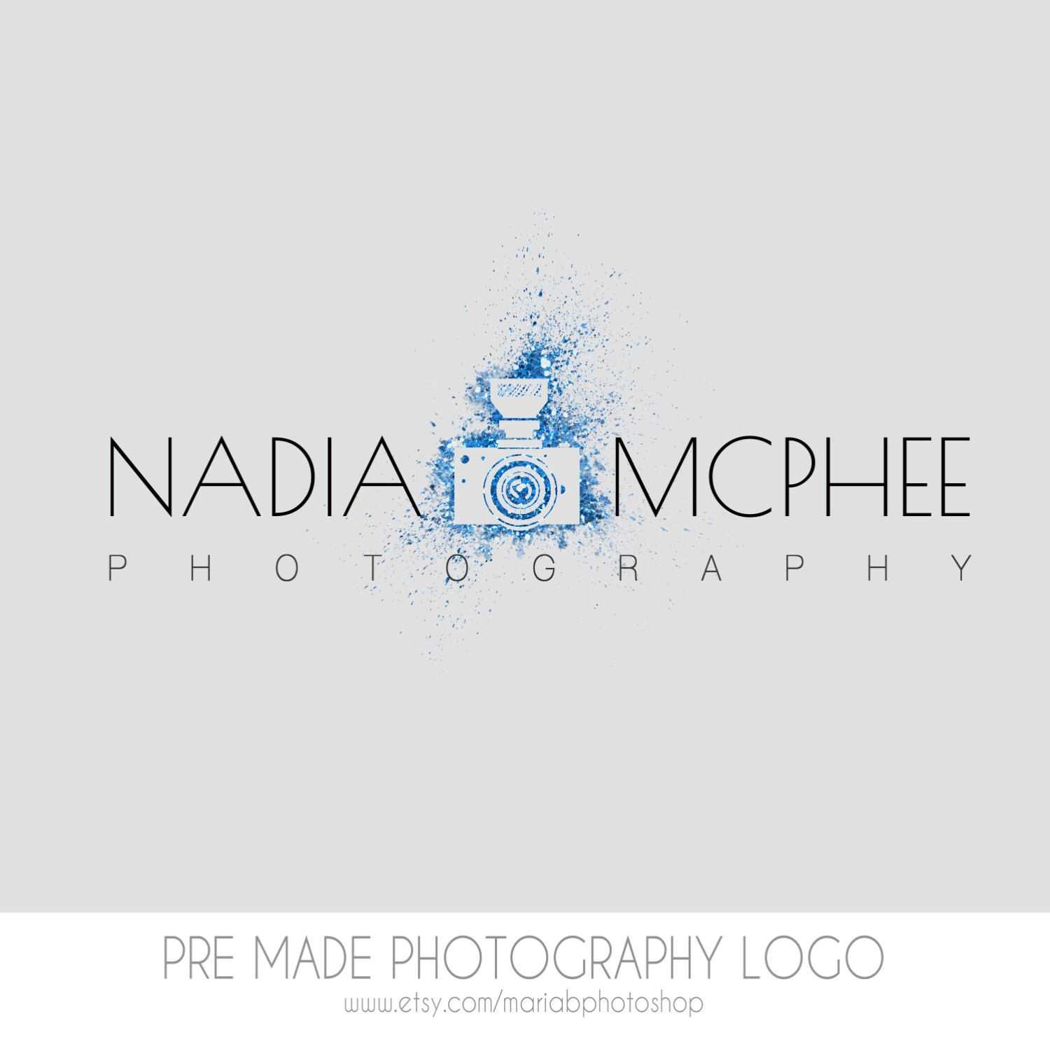 Pre made Photography Logo, watercolor design, photography, watermark, painted, OOAK design - Newborn photography logo, maternity logo by MariaBPhotoShop on Etsy https://www.etsy.com/listing/207862302/pre-made-photography-logo-watercolor