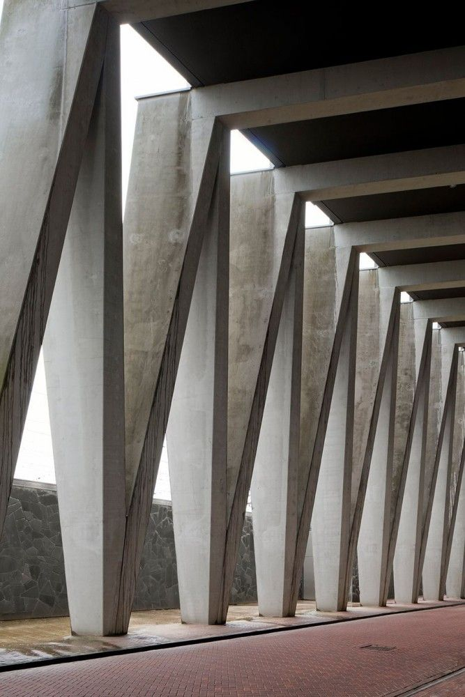 Concrete Column Design : Vodafone be baumschlager eberle concrete architecture
