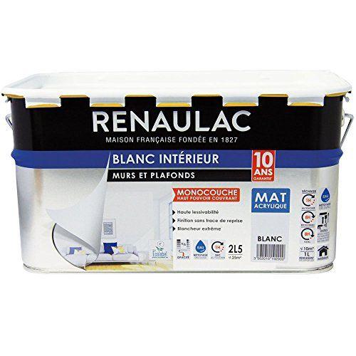 Renaulac C-REZLMECO-00000-10L Peinture Intérieur murs  plafonds - Peindre Un Mur Interieur