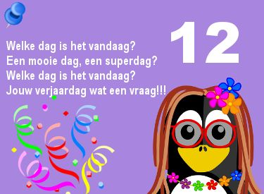Het Is Vandaag Jouw Verjaardag 12 Jaar Verjaardag Pinterest
