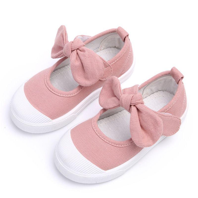 520d527fb Cheap Otoño 2016 Muchachas de Los Niños Zapatos de Lona Zapatos de Moda  Bowknot de Los Niños Cómodos Zapatos Casuales Zapatillas Niñas Zapatos de  La ...