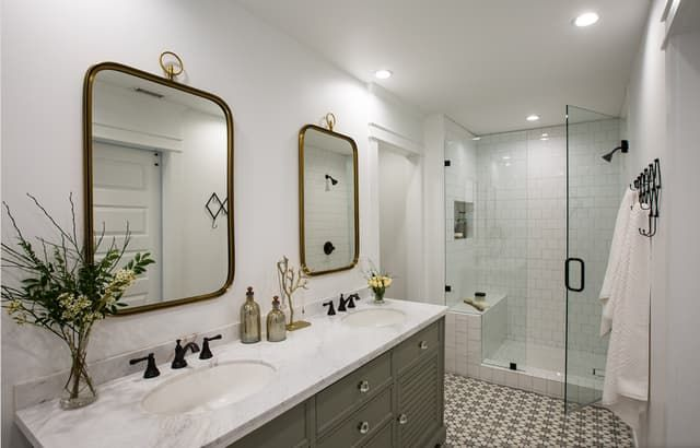 "A Husband and Wife's ""Happy Medium"" Small Space Bathroom ..."