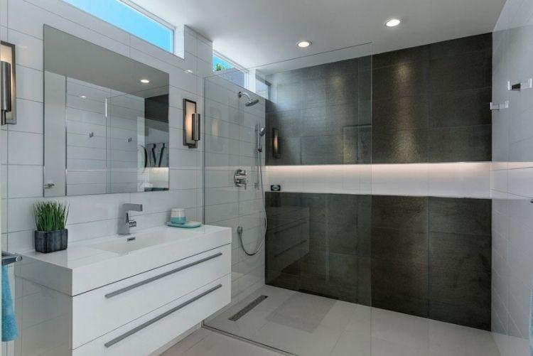 Begehbare dusche haus pinterest for Begehbare dusche modern