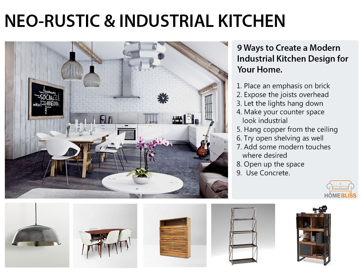 Collection by HomeBliss - Neo-Rustic & Industrial Kitchen ...