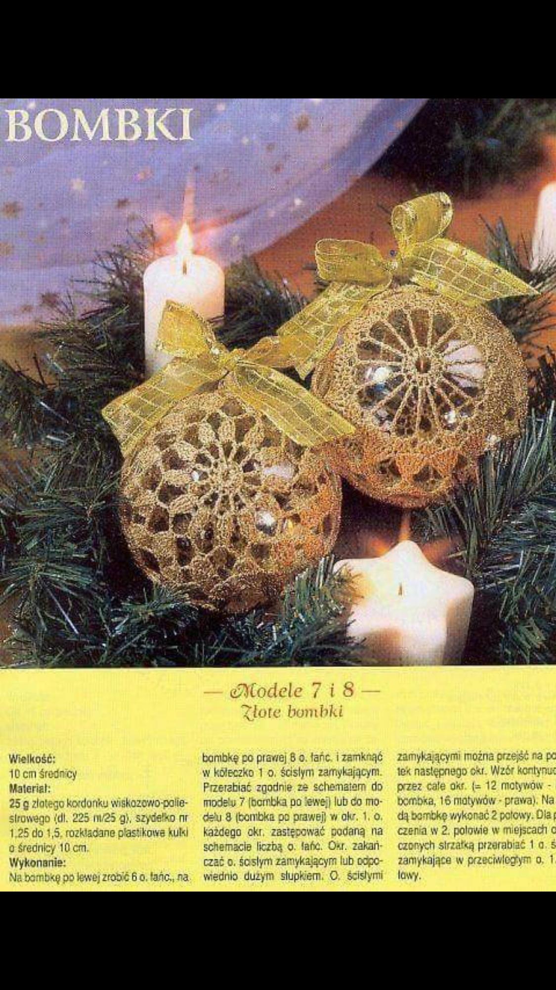 Pin Von Bozena Walczak Auf Palle Natalizie Weihnachtsdekoration Album