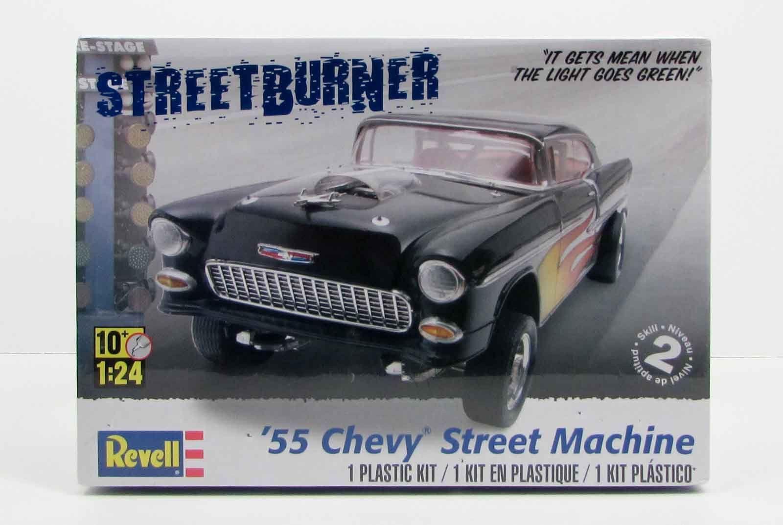 1955 Chevy Street Machine Revell 85 2211 1 24 New Car Model Kit Wiring Kits