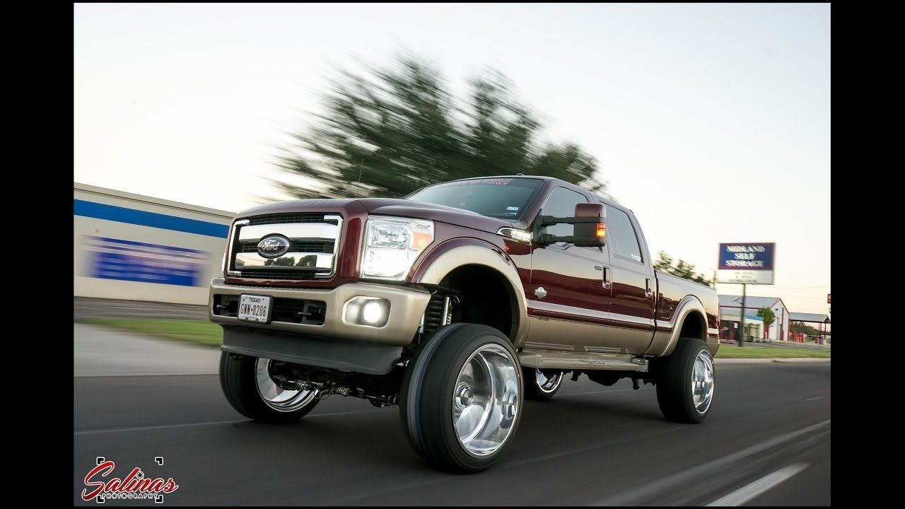 Ford f250 on 26x14 specialty forged on a 8 lift with upgraded turbo on