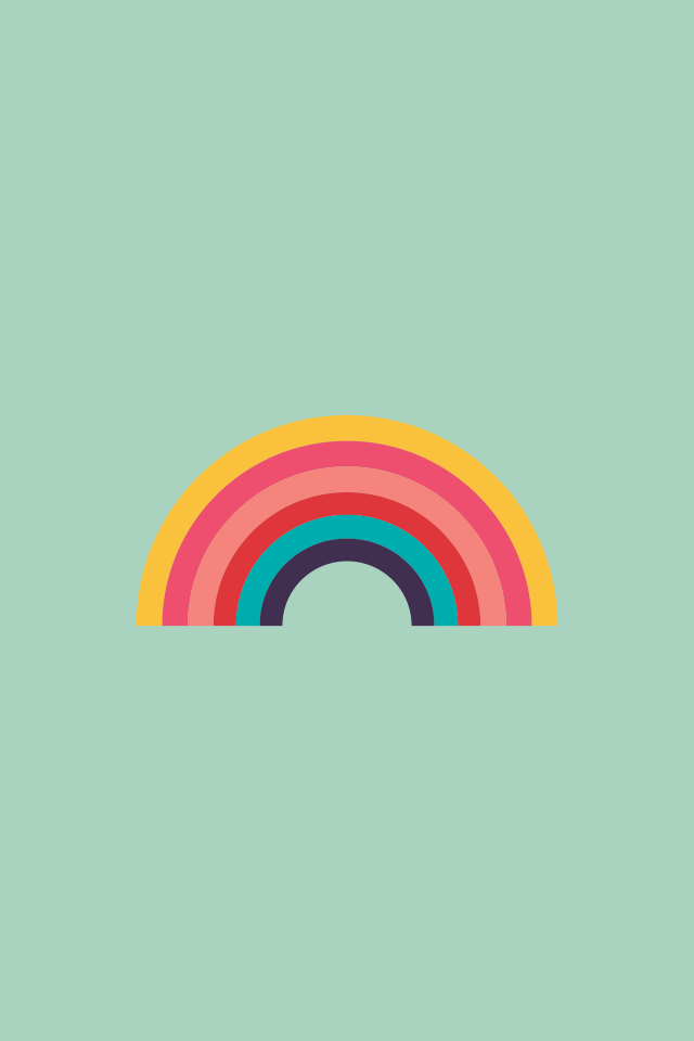 Rainbow Find More Minimalistic Iphone Wallpapers And Backgrounds At Prettywallpaper Rainbow Drawing Rainbow Wallpaper Rainbow Art