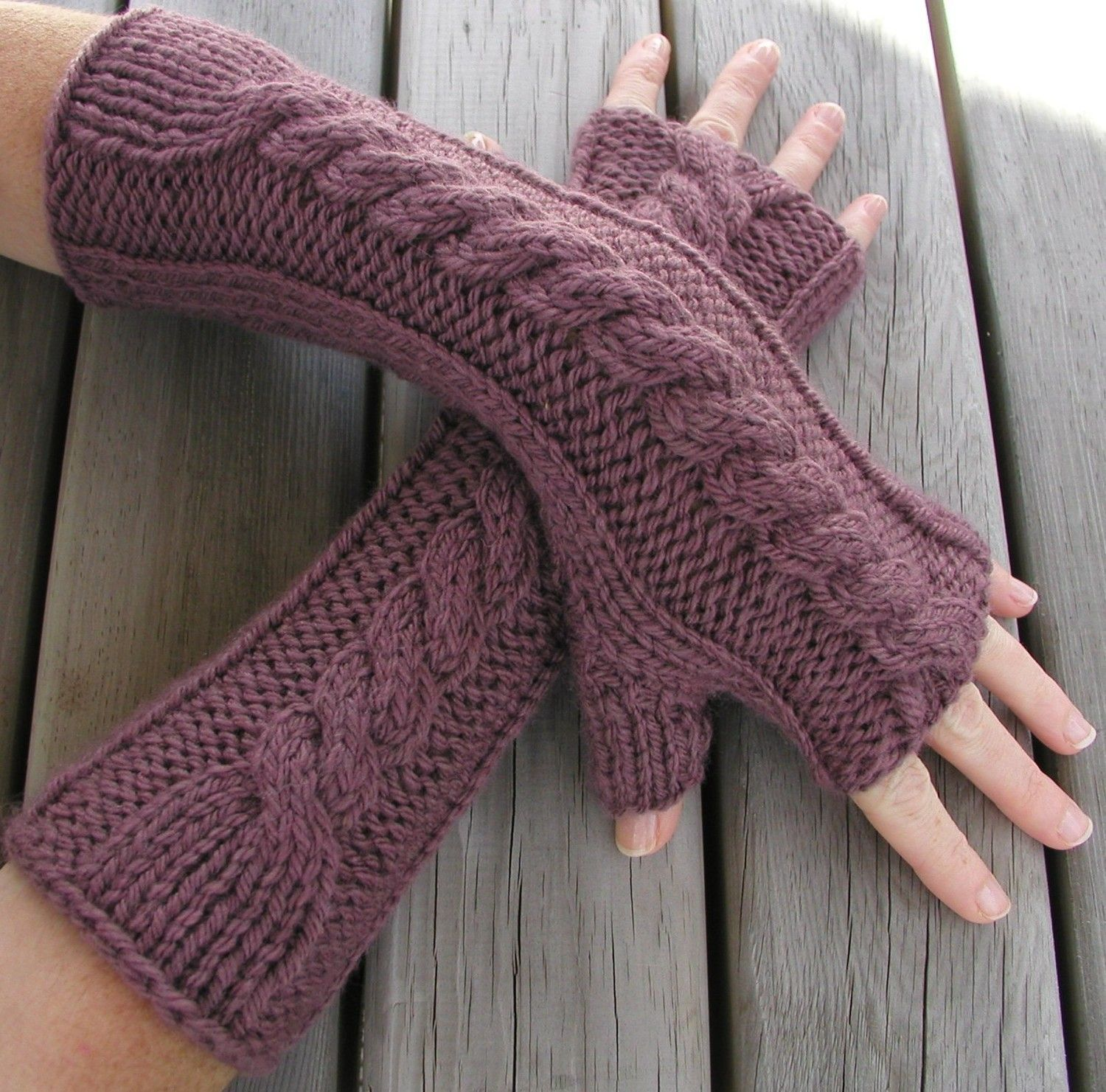 Hand and Arm Warmer Fingerless Gloves Knitting Pattern | Fingerless ...