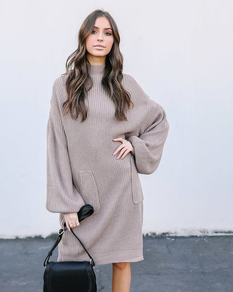 Baby It S Cold Outside Shift Dress: Baby, It's Cold Outside Pocketed Sweater Dress