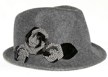 Nine West offers timeless styling with this felt fedora hat featuring fashionable floral accents at the side.