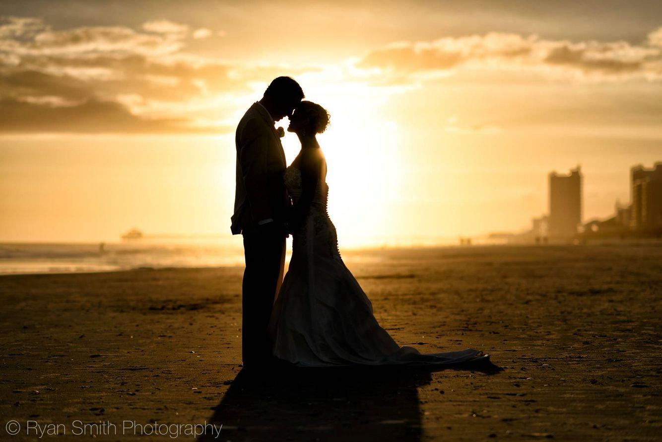 North beach plantation weddings  Sunset silhouette in North Myrtle Beach  Weddings  Pinterest