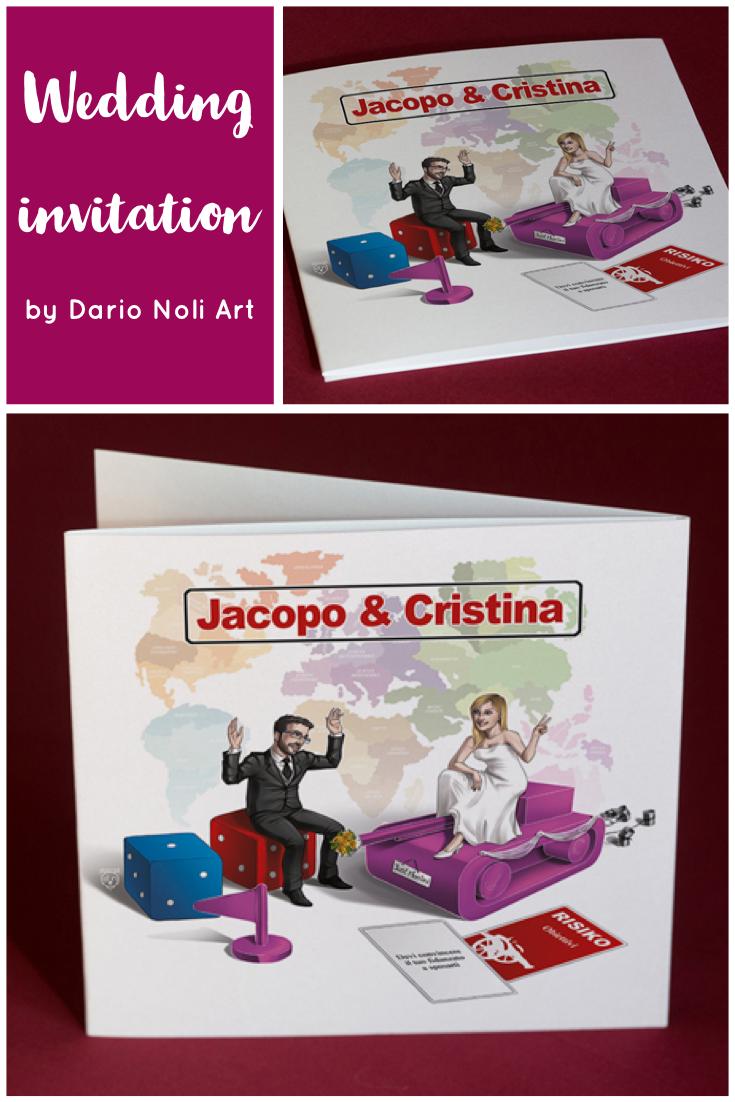 Partecipazione Matrimonio Personalizzata In Tema Giochi Da Tavolo Matrimonio Personalizzato Partecipazione Matrimonio