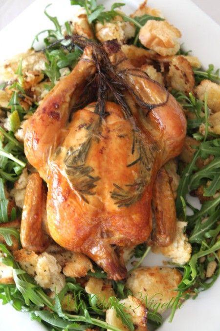 Zuni Roast Chicken with Bread Salad