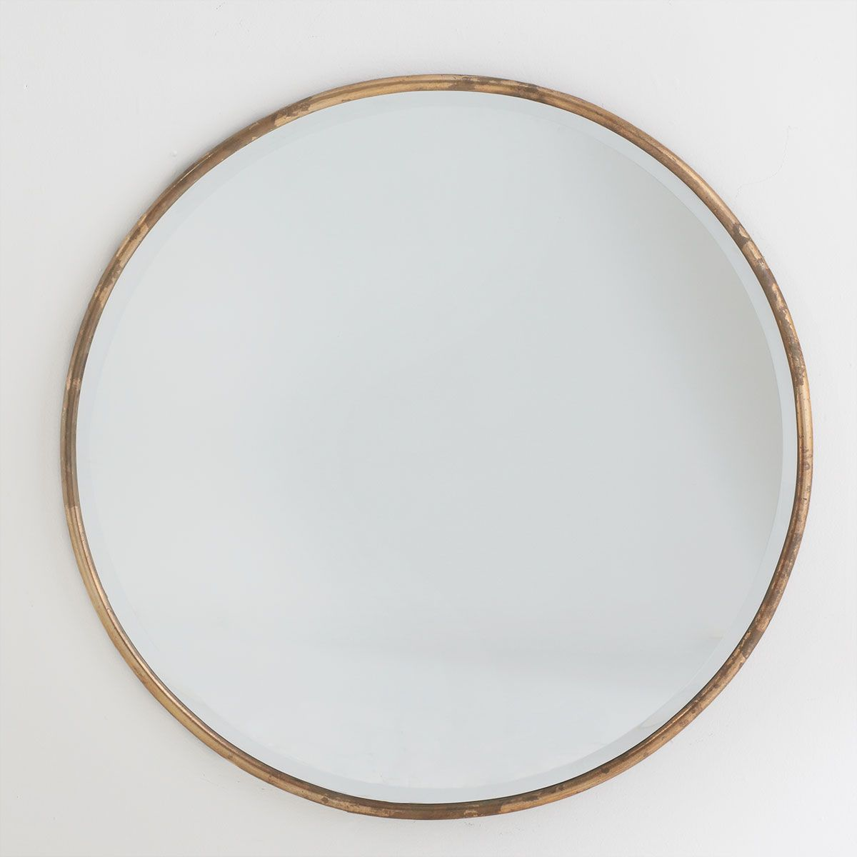 Round Mirror With Gold Frame Would Like To Replace My