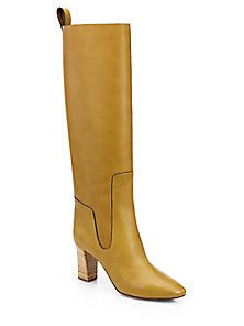 Chloé - Leather Knee-High Boots