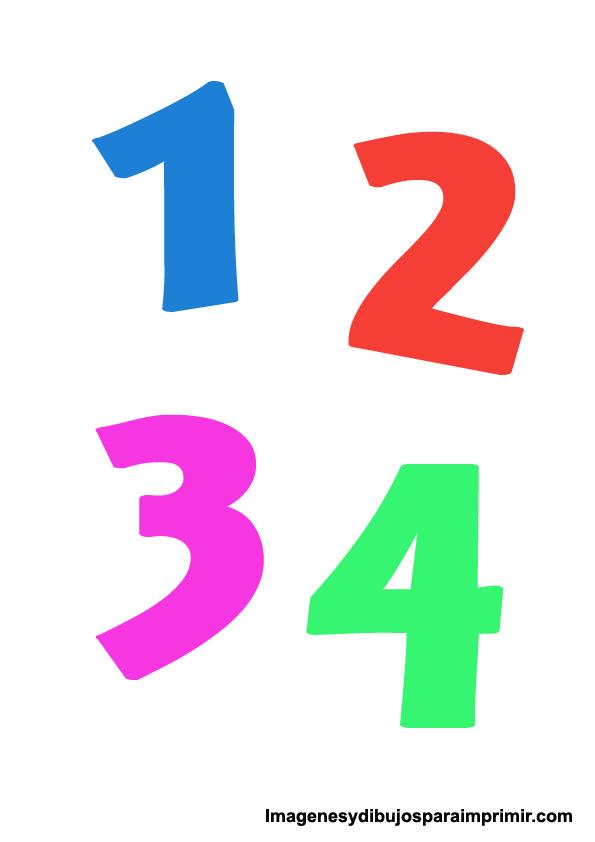 Numeros De Colores Imagenes Y Dibujos Para Imprimir Aprender Breast