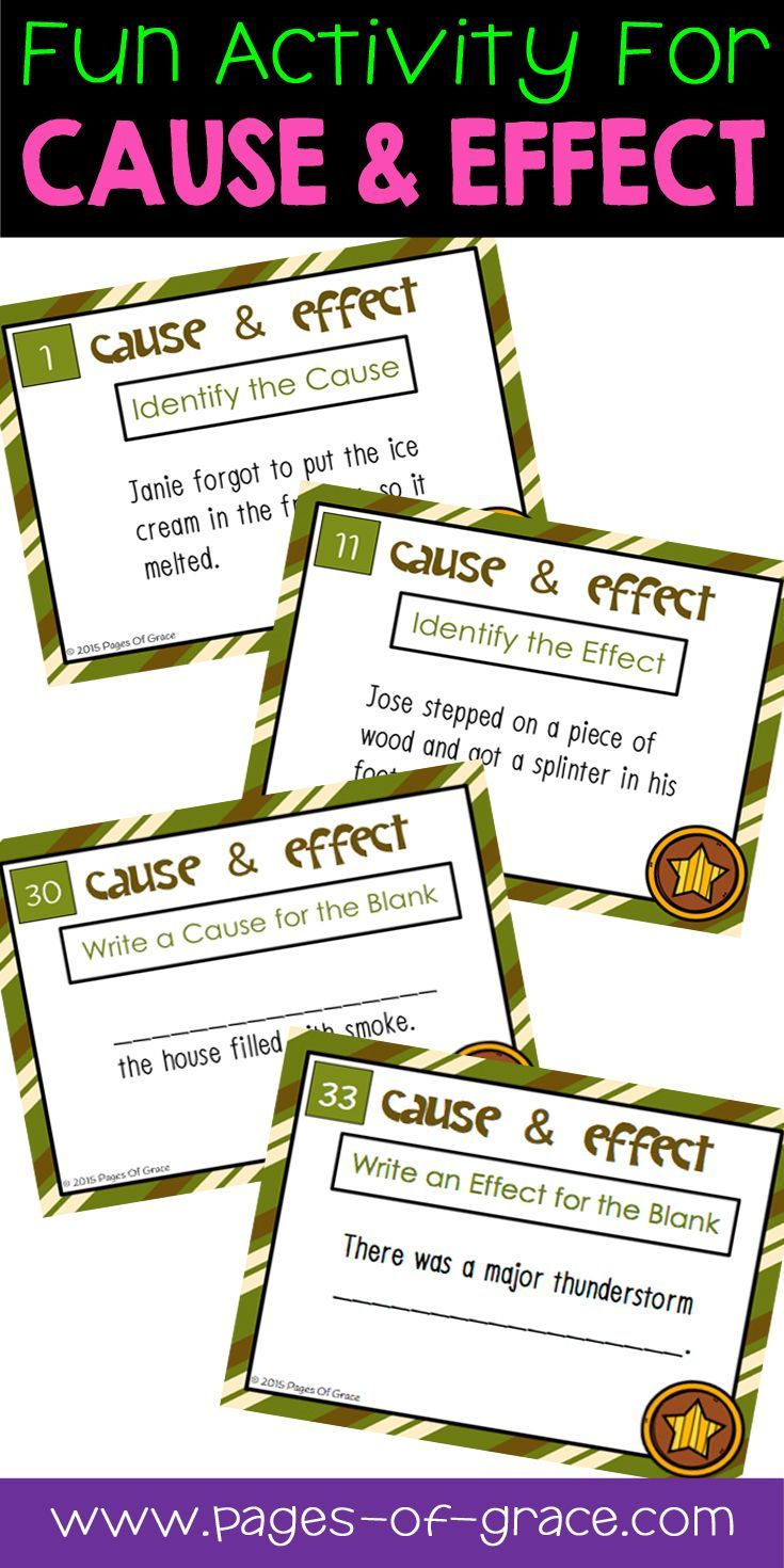 Cause And Effect Task Cards 3rd 5th Grade Language Arts