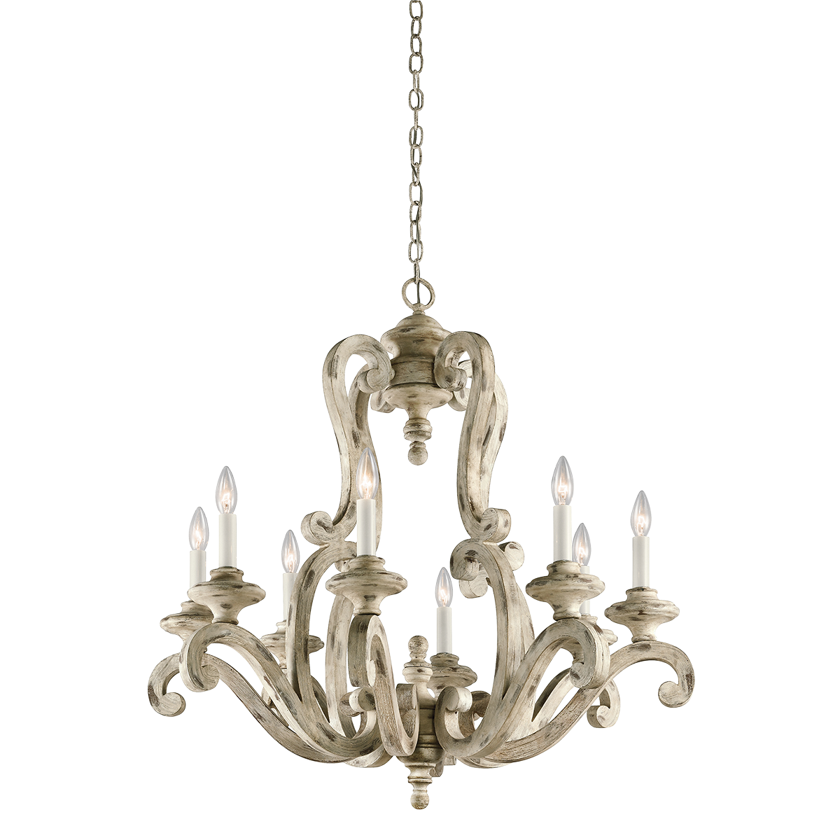 Large White Pendant Light Hayman Bay 8 Light Large Chandelier In Distressed Antique