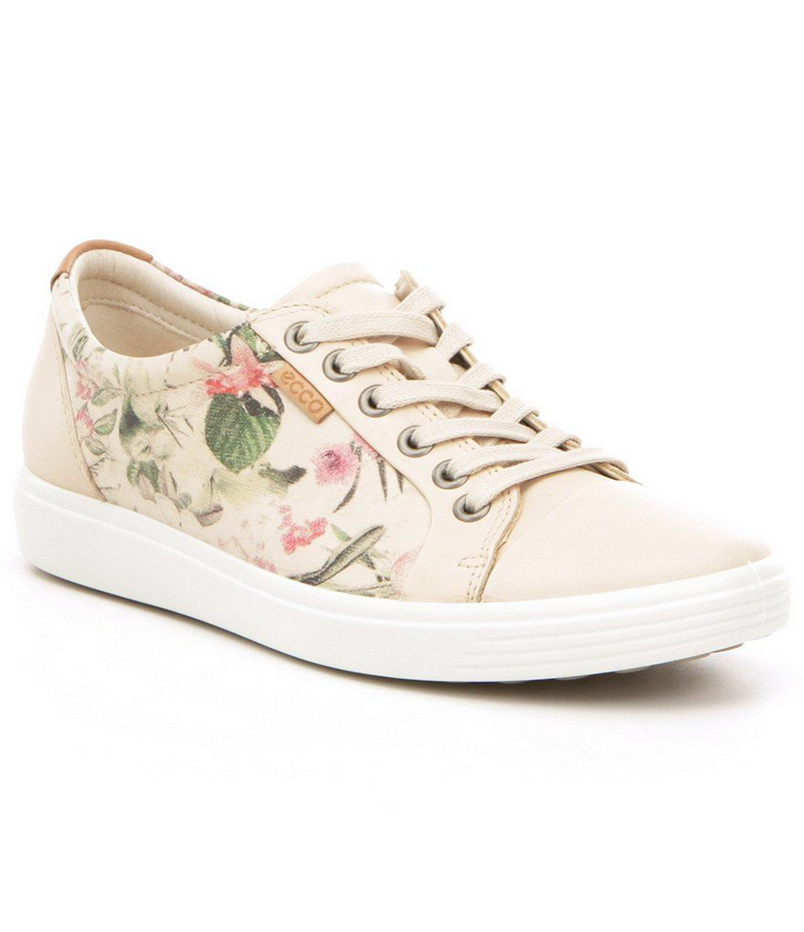 5b9cd37e76149 ECCO Women´s Soft 7 Sneakers | Shoes | Shoes, Sneakers, Floral sneakers
