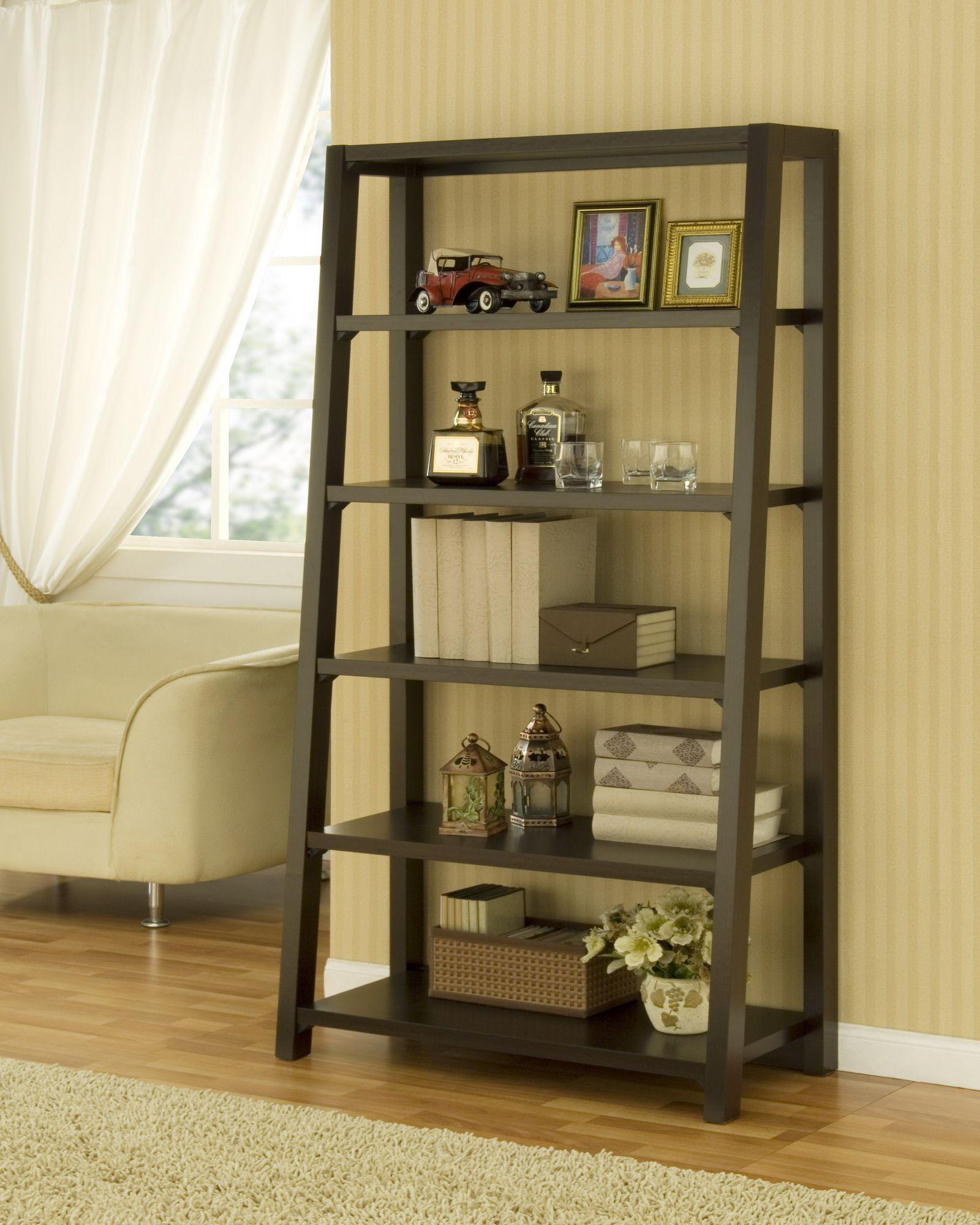 Open Ladder Shelves. Browse Room Bookcase